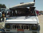 إصابة 3 مجندين فى حادث اصطدام ميكروباص بـ3 سيارات شرطة