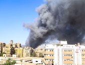 العراق: حريق هائل فى المحطة العالمية لسكك الحديد وسط العاصمة بغداد