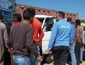 """تكدس مرورى على طريق """"أبوحماد - الزقازيق"""" بسبب حادث تصادم"""