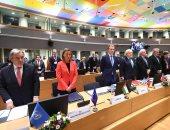 بالصور.. دقيقة حداد على ضحايا خان شيخون فى مؤتمر مستقبل سوريا ببروكسل