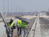 المرور يشرف على أعمال إنشاء 3 كبارى بشارع التسعين بالتجمع لمدة 3 أسابيع
