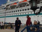 """بالصور.. وصول 1280سائحا على متن السفينة """" AL.BATROS """" لميناء بورسعيد"""