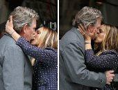 شاهد.. قبلات سارا جيسيكا باركر لـ تشورتش بشوارع نيويورك خلال تصوير Divorce