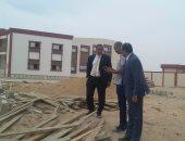 رئيس جامعة أسوان يتفقد مبانى كليات فرع الجامعة الجديد