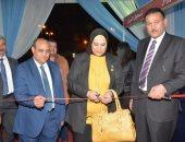 المهندسة سمر شلبى نقيب المهندسين بالإسكندرية تفتتح معرض للأثاث والديكور