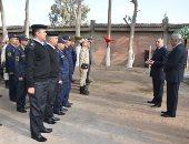 رئيس أكاديمية الشرطة يتفقد وحدات التابعة تدريب كلاب الأمن والحراسة