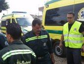 إصابة 3 أشخاص بتصادم سيارة ملاكى أثناء جلوسهم على مقهى فى الهرم