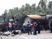 بالصور.. اصطدام حافلة بشاحنة وقود فى المكسيك ومصرع 24 شخصا