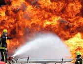 تمركز 6 سيارات إطفاء لتبريد موقع انفجار خط الغاز بالتجمع الخامس