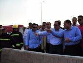 وزير البترول من موقع حادث التجمع: مخزون البوتاجاز آمن ويلبى احتياجات السوق