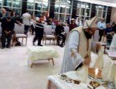 صفحة الكنيسة تنشر صورا لقداس عيد القيامة لمصابى تفجير طنطا بمجمع الجلاء