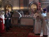 بالصور.. فلاديمير بوتين يهنىء المسيحيين بعيد الفصح