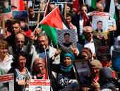 وقفة تضامنية مع الصحفيين الأسرى الفلسطينيين أمام سجن عوفر الإسرائيلى