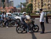 تحرير 1195 مخالفة دراجات بخارية بدون لوحات بالمحافظات