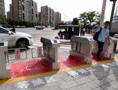 بالصور.. حاجز آلى للمواطنين بالصين للالتزام بقواعد المرور