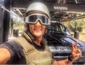 """محمد رمضان ينشر صورة جديدة بالزى العسكرى..ويعلق: """"الشجاعة هى جيش مصر"""""""