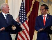 بالصور.. نائب الرئيس الأمريكى مايك بنس يلتقى الرئيس الإندونيسى جوكو ويدودو
