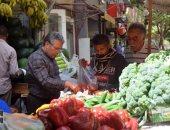 أسعار الخضروات والفاكهة بسوق الدقى حبة فوق وحبة تحت