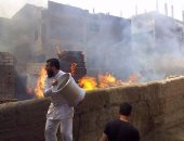 السيطرة علي حريق بمخزن سيراميك بمركز الزقازيق بالشرقية