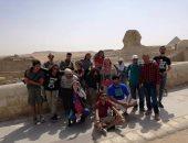 """وفد الشباب العربى يزور """"أبو الهول"""" فى رحلة للعصور المصرية القديمة"""