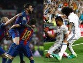 شوط أول الكلاسيكو.. ريال مدريد 1 - 1 برشلونة.. إصابة بيل وميسي