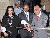 خالد سرور يفتتح معرض السجينى بمتحف محمود مختار