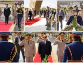 الرئيس السيسى يزور النصب التذكارى لشهداء القوات المسلحة قبل المغادرة للرياض