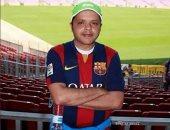 محمد هنيدى يحتفل بفوز برشلونة على ريال مدريد بصورة فوتوشوب