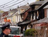 بالصور.. مصرع 5 أشخاص فى حريق منزل بنيويورك