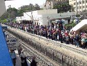 ارتباك حركة الخط الأول للمترو بسبب محاولة انتحار فتاة بمحطة مترو عزبة النخل