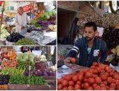 استقرار اسعار الخضروات والفاكهة بسوق العبور والطماطم ب 1.5 جنيها