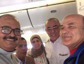 وزير الطيران السابق يقود طائرة مصرية متجهة للولايات المتحدة الأمريكية