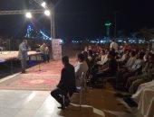 """بالفيديو والصور.. مؤتمر جماهيرى أمام معبد الأقصر لدعم حسن عامر """"أميرًا للشعراء"""""""