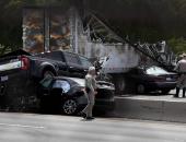 بالصور.. مقتل وإصابة 10 أشخاص فى حادث على طريق لوس انجلوس كاليفورنيا