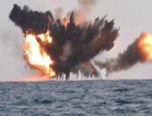 """بالفيديو.. لحظة تدمير السعودية لـ""""قارب مفخخ"""" حاول الهجوم على محطة أرامكو"""