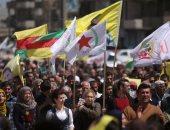احتجاجات ضد أردوغان فى مدينة سورية بعد استهداف مقر للأكراد