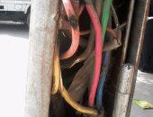 شكوى من وجود أسلاك كهرباء عارية بارزة بأعمدة إنارة كوبرى الساحل تنذر بكارثة