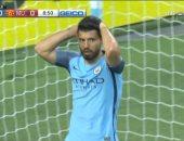أجويرو يهدر فرصة تقدم السيتى على يونايتد فى الشوط الأول