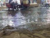 شوارع اللبينى بالهرم غارقة فى مياه الصرف الصحى