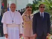 بالفيديو.. الرئيس السيسي يستقبل بابا الفاتيكان فور وصوله قصر الاتحادية