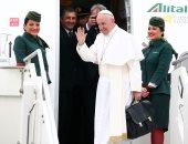 بالفيديو والصور.. بابا الفاتيكان يغادر مطار روما فى طريقه إلى القاهرة