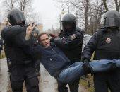 """الشرطة الروسية تعتقل عشرات المتظاهرين فى مسيرة غير مرخصة بـ""""موسكو"""""""