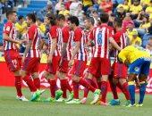 ملخص وأهداف فوز أتلتيكو مدريد على لاس بالماس 5/0 بالدورى الإسبانى