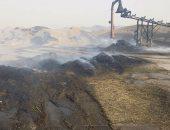 بالصور.. موسم الحرائق يعود من جديد فى سوهاج بـ 6 حرائق متفرقة