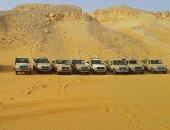الأمن ينجح فى إنقاذ 21 مهاجرا غير شرعى من سوريا تاهوا فى صحراء شلاتين
