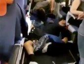 أول صور لركاب طائرة روسية تعرضت لمطبات جوية قبل هبوطها فى تايلاند
