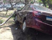 مصرع طالب فى حادث تصادم سيارتين أعلى طريق السويس الصحراوى