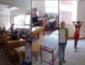 بالفيديو.. فوضى وإهمال بلجان الشهادة الابتدائية بمدرسة السلام فى الدقهلية