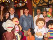 """فريق مسلسل """"زووو"""" يحتفل بانتهاء تصويره لعرضه على ON E بحضور أبو هشيمة"""