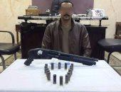 القبض على موظف بحوزته سلاح نارى وعدد من الطلقات بقطور غربية